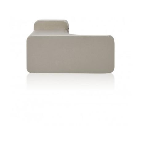 Knob Minimal to the door aluminum and steel