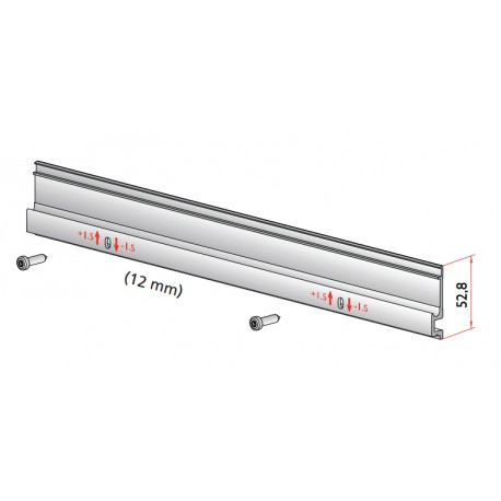 Sliding rail carrier M & T 12mm for wooden doors