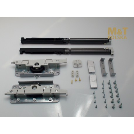 Akcesoria z amortyzatorami do systemu Minima do drzwi drewnianych