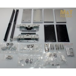 Accessories with shock absorbers for the system minima for glass doors
