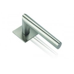 Door handle Morgan stainless steel flat square rosettes