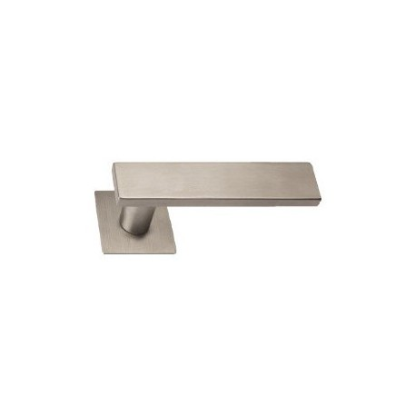 Door handle Entero II stainless steel flat square rosettes