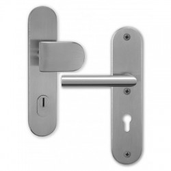 Anti-theft door handles Morgan plate Nomura