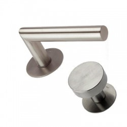 Knob-Door handle Lusy stainless steel flat rosettes