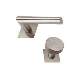 Knob-Door handle Morgan stainless steel flat rosettes square