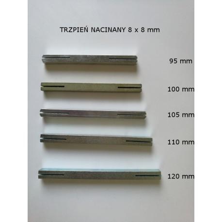 Trzpień do klamki 8 x 8 mm nacinany