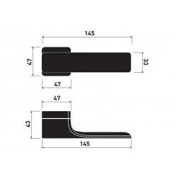 Klamka Minimal M&T szyld kwadratowy TECH