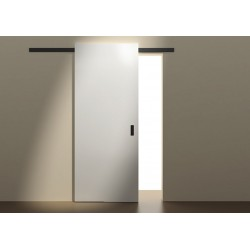 Sliding Minima system for wooden doors 2m black mat 12mm
