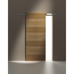 Sliding Minima system for wooden doors 2m silver aluminium mat 12mm