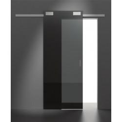 System przesuwny Minima do drzwi drewnianych srebrny mat aluminium 2 metry