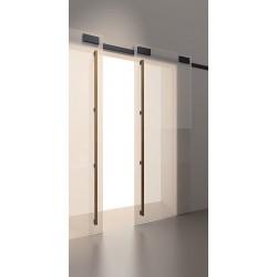 System przesuwny Minima do drzwi szklanych 2m czarny mat 12mm