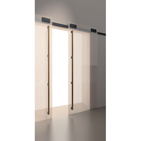 Sliding Minima system for glass doors 2m black mat 12mm