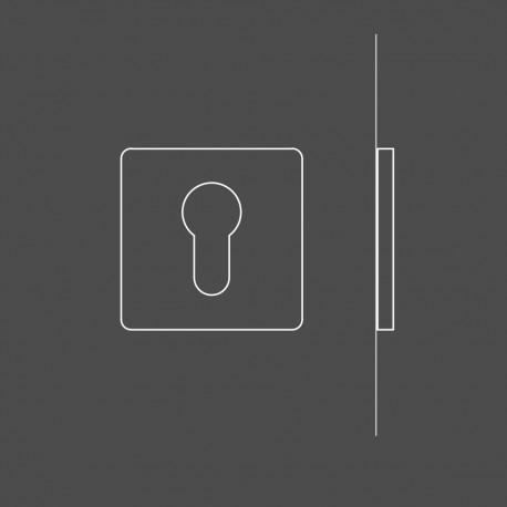 Kwadratowe rozety na wkładkę patentową do drzwi MIMOLIMIT