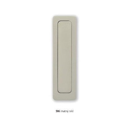 Minimal handle for sliding doors of wood