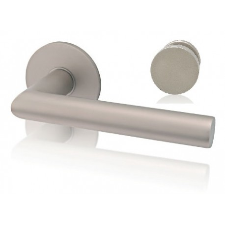 Door handle Industry Squelette round rosette