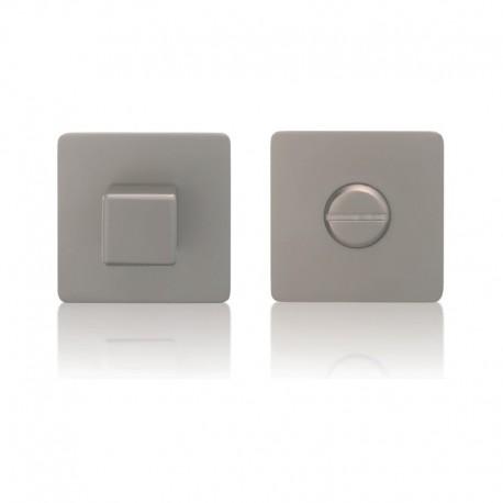 Kwadratowe pokrętło WC z rozetą magnetyczną i zamkiem