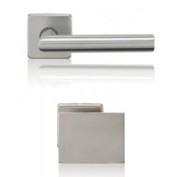 Gałko-Klamka Lusy szyld kwadratowy z dolną rozetą na wkładkę, stal nierdzewna