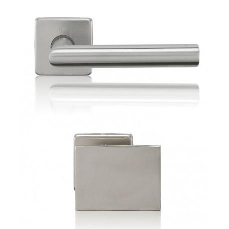 Gałko-Klamka Lusy szyld kwadratowy z dolną rozetą na wkładkę patentową, stal nierdzewna