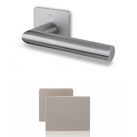 Gałko-Klamka Lusy szyld kwadratowy, płaski, magnetyczny z dolną rozetą na wkładkę, stal nierdzewna