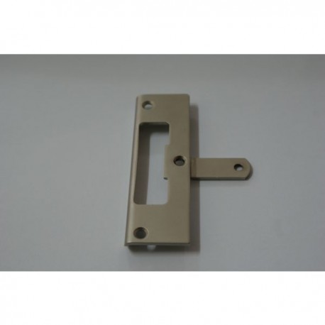 Striking plate to lock for glass door